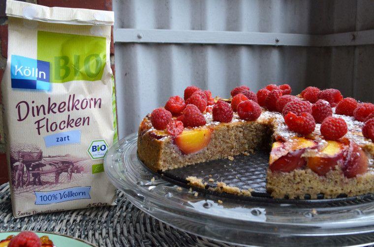 Kolln Dinkelkorn Flocken Healthy Himbeer Dinkelflocken Kuchen Kuchen Zutaten Dinkelflocken Kuchen