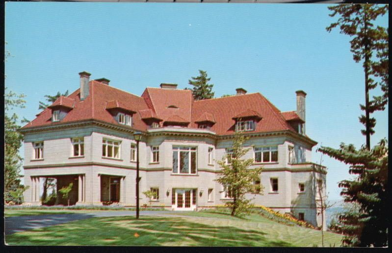 PORTLAND  OREGON Pittock Mansion Vintage Postcard. No longer available