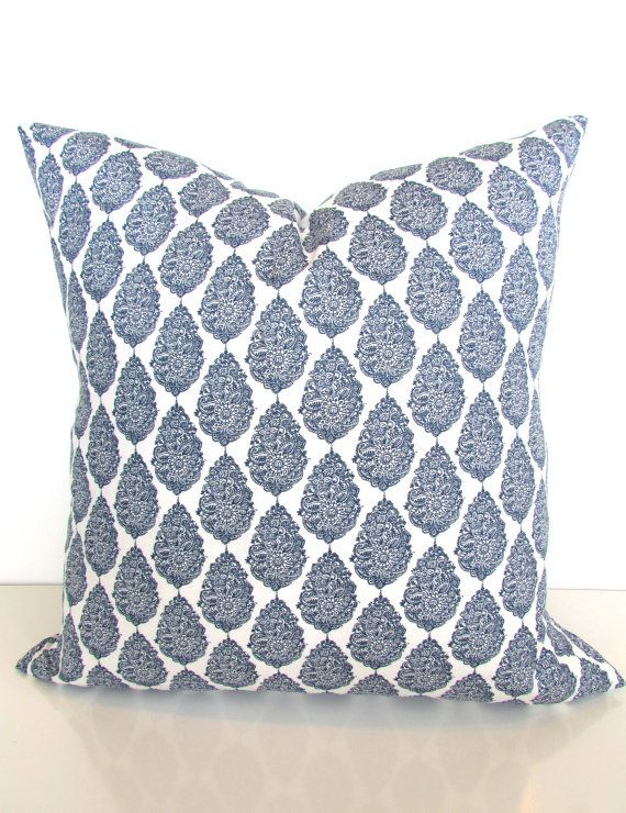 Blue PILLOW Covers Blue Throw Pillows Navy By SayItWithPillows Inspiration Joann Fabrics Pillow Covers