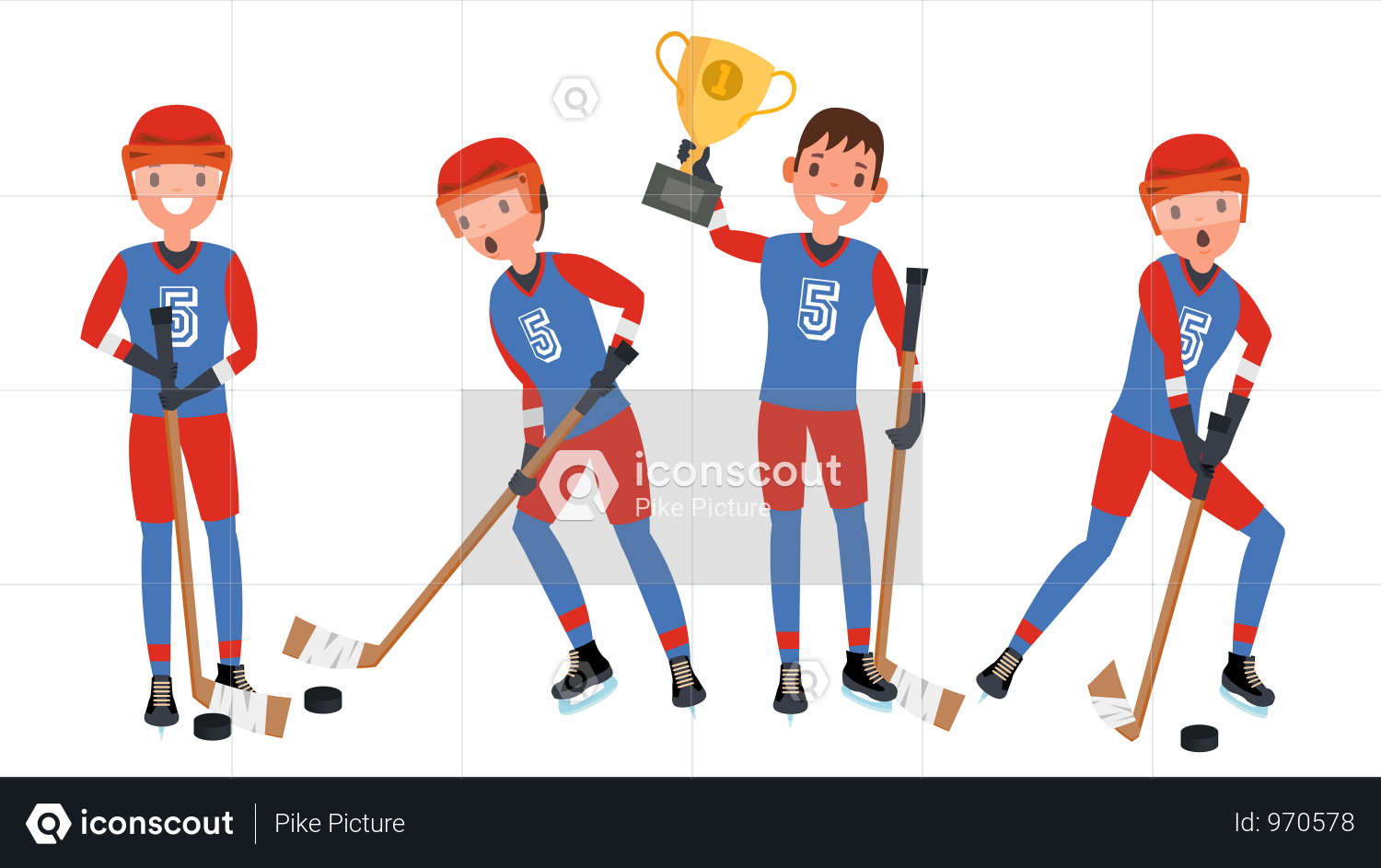 Premium Ice Hockey Man Player Vector Illustration Download In Png Vector Format Ice Hockey Ice Hockey Players Hockey Players