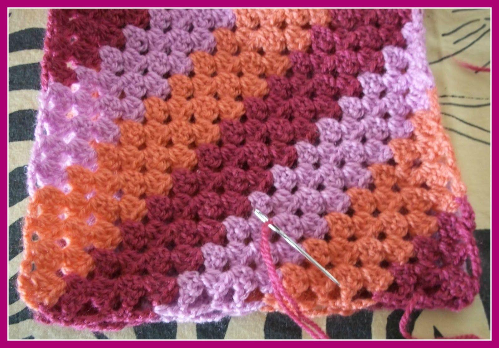 Crochet Infinity Scarf | granny square adventures crocget ...