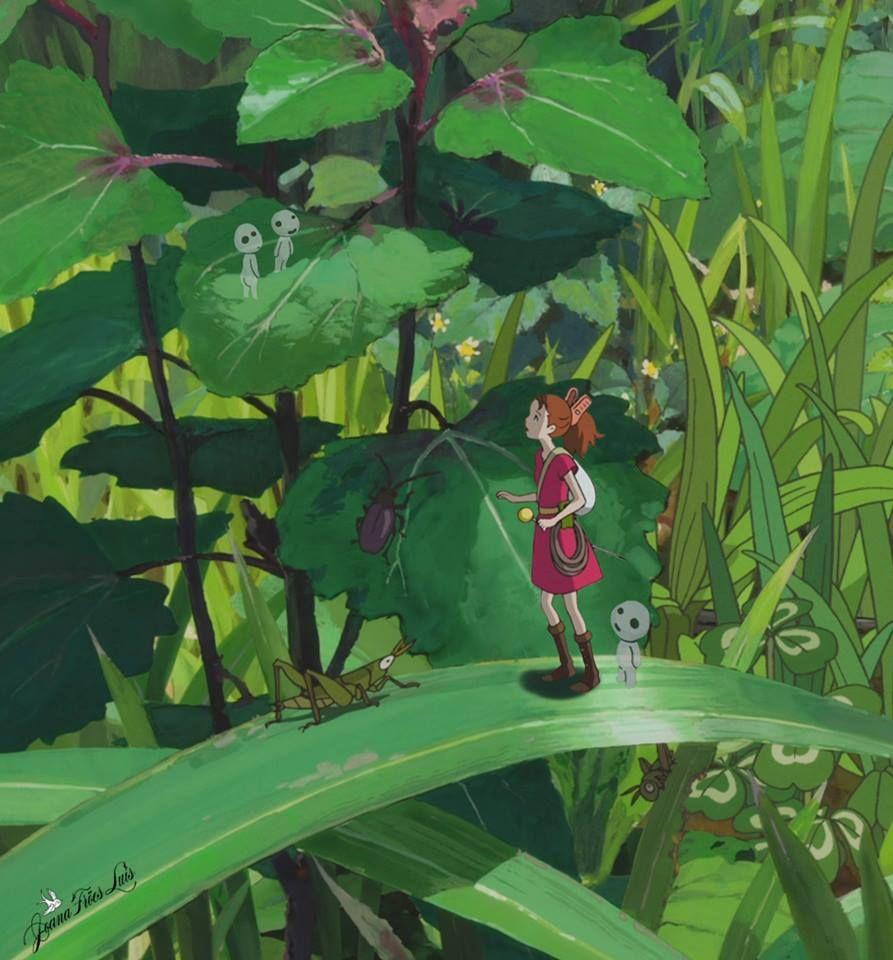 Arrietty and Kodamas (Joana Froes Luis)