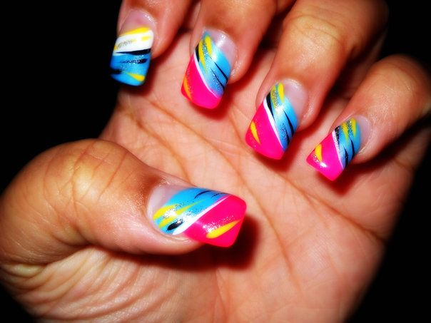 Image Detail For Nails Design Funky Colorful Nails Fashion And