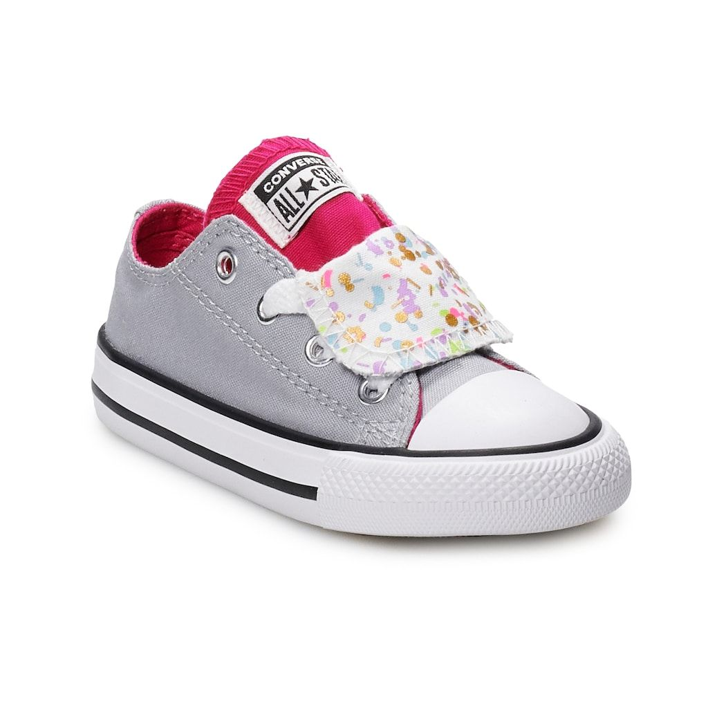 67d01aea6d1f Toddler Girls  Converse Chuck Taylor All Star Double Tongue Birthday Confetti  Sneakers