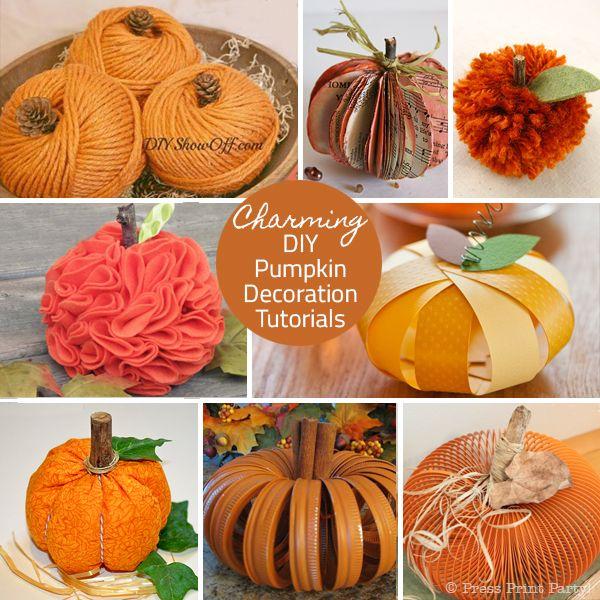 19 Easy Pumpkin Craft Ideas Things I\u0027d like to make Pinterest