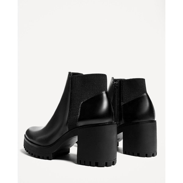 cb70d23c093 TRACK SOLE HEELED ANKLE BOOTS - SHOES-TRF-SALE