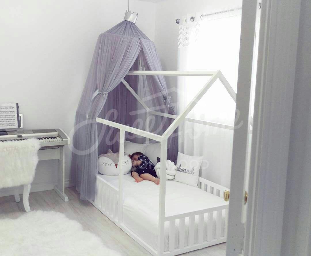 Scandinavian Design Baby Room Interior Baby Bed Or Children Etsy Canopy Bedroom Canopy Over Bed Kid Beds