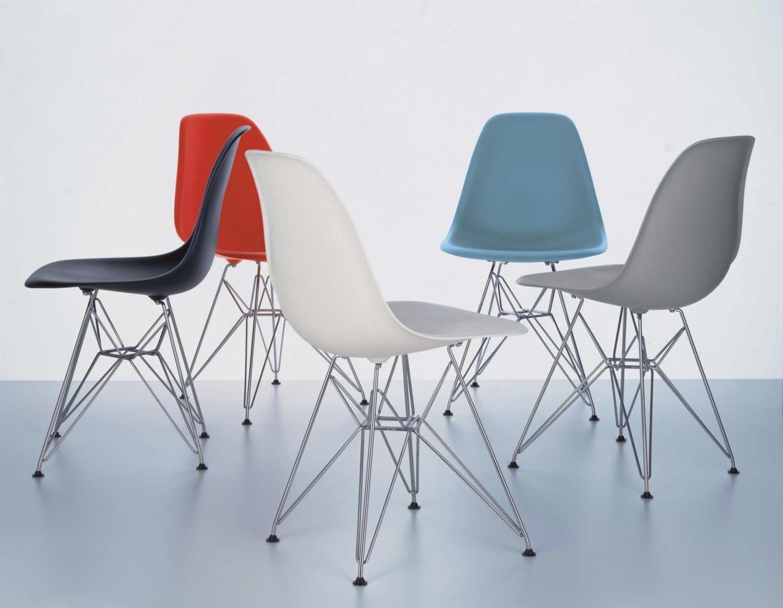 Contemporary Chair Plastic Aluminum Commercial Dsr Vitra Sillas Sillones Living