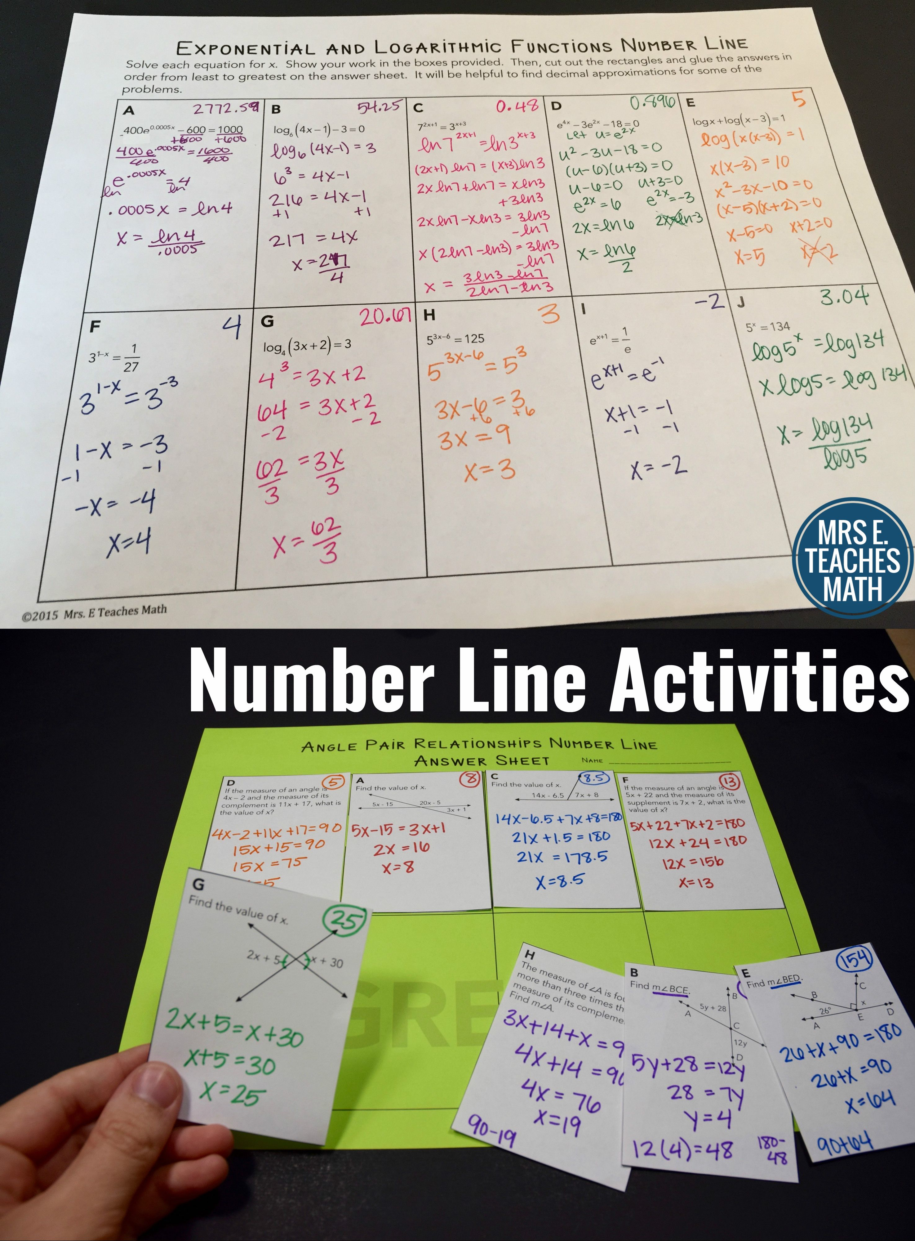 Number Line Activities Help Students Practice A Skill