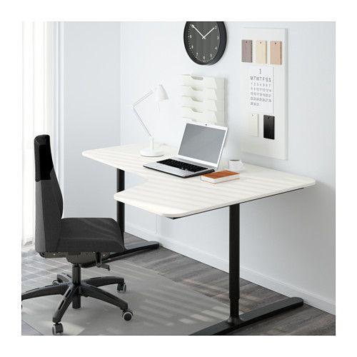 Büromöbel weiß ikea  BEKANT Ecktisch rechts, Birkenfurnier, weiß | Ecktisch, Ikea und ...