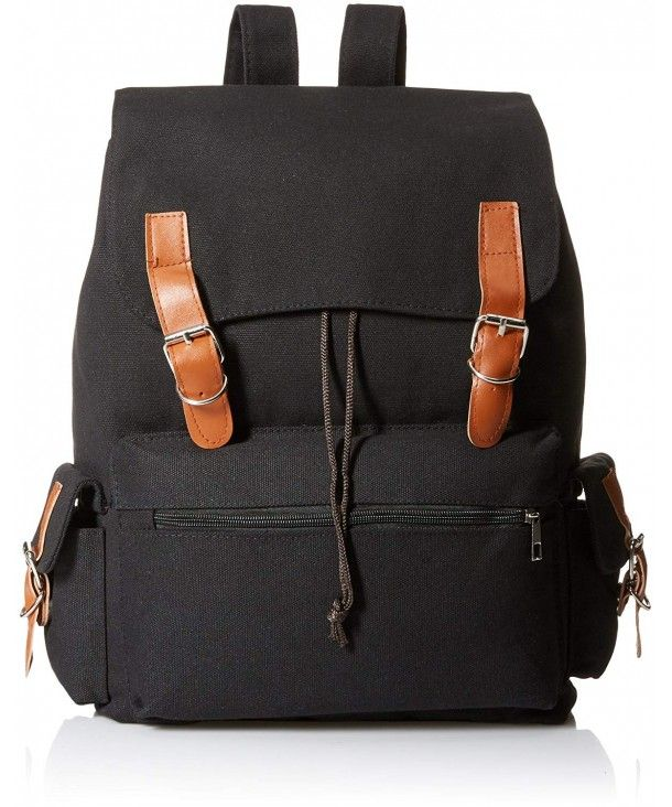 Vintage Canvas Backpack Rucksack School Bag Satchel Hiking Bag - Black-2 -  CY18759R9QI  Backpacks  bags  handbags  style  gift 52b5f4a8286be