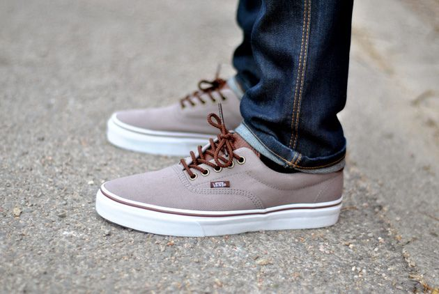 267ef23f680 Vans Era 59 (T) trainers - In Cloudburst Grey Brunette Brown. Extra padding  around the ankle area for your comfort. Vans branded label on midsole and  side.