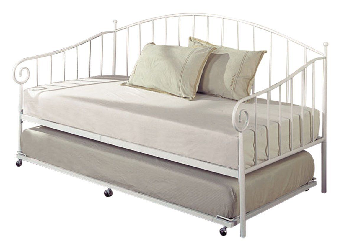Full Size Trundle Bed Kings Brand Furniture White Metal Twin Size