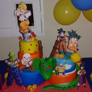 dbz cupcake topper Google Search DBZ Party Pinterest Birthdays