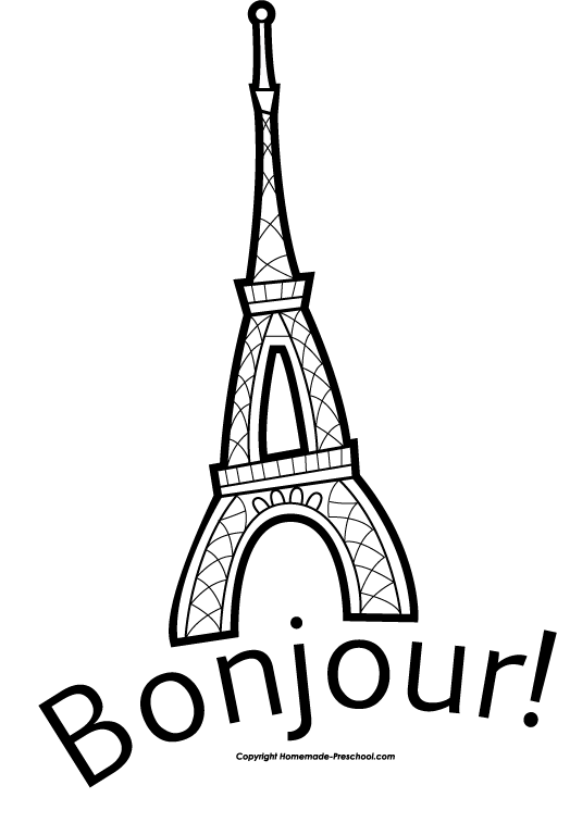 Google Image Result For Homemade Preschool Files Eiffel Tower Bonjour Bw