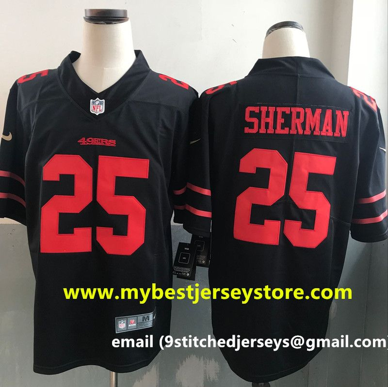 another chance 57335 1585e Men's Nike Richard Sherman Scarlet San Francisco #49ers ...