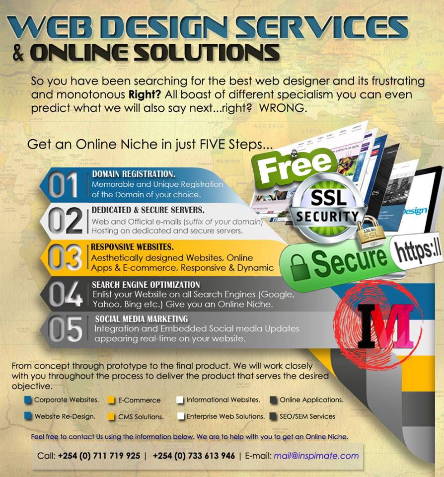 Get Your Business Online In Just Five Steps And Get These With Your Website 1 Unique Memorable Do How To Memorize Things Web Design Services Marketing Goals
