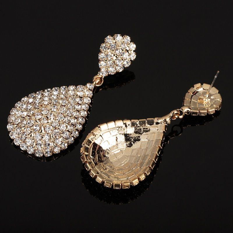 Earring Size Big New Stud Earrings Gold Fashion Fashion Earrings Wedding Jewelry Earrings