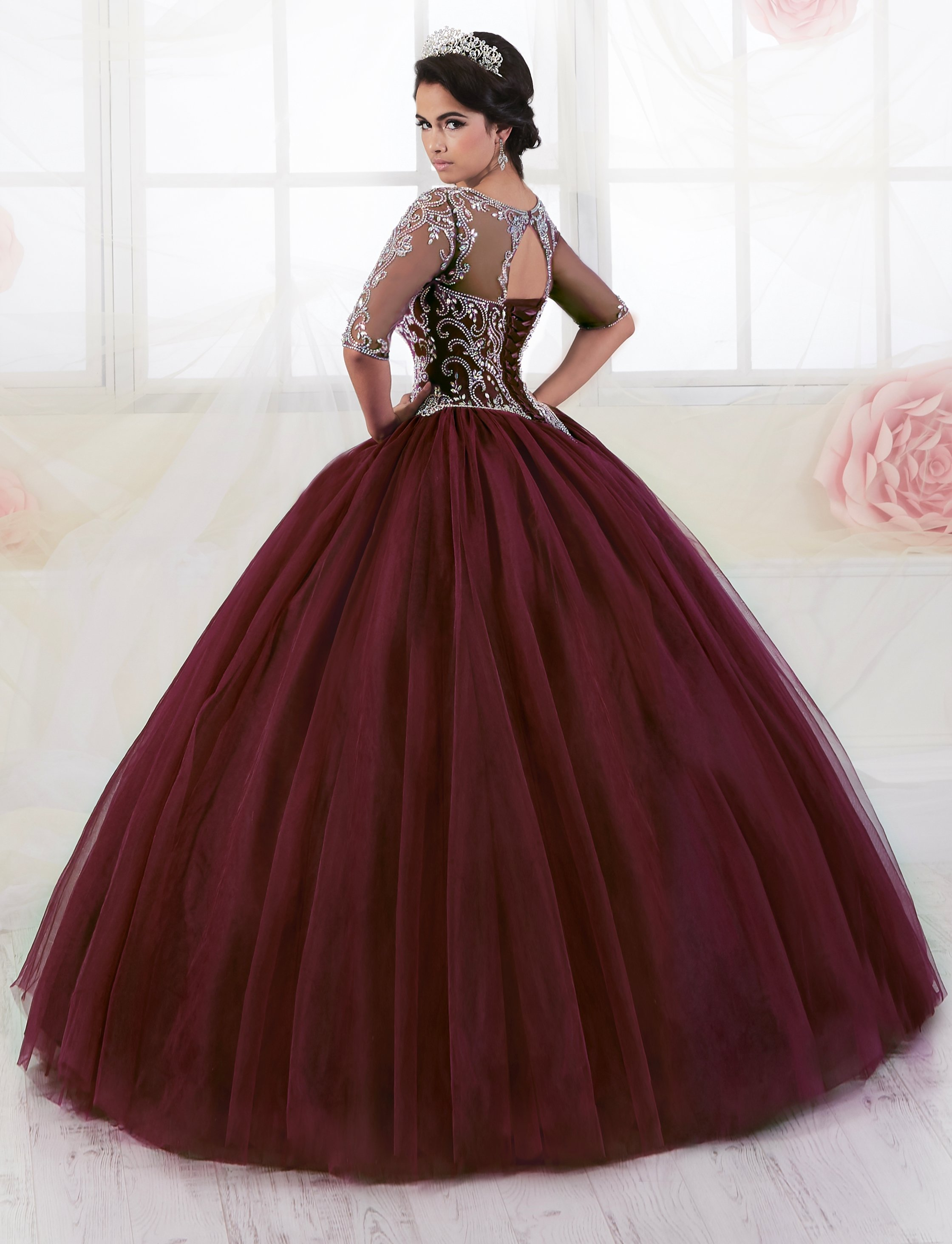 3b49312804d4 Long Sleeved Quinceanera Dress by Fiesta Gowns 56354 in 2019 | Xv ...