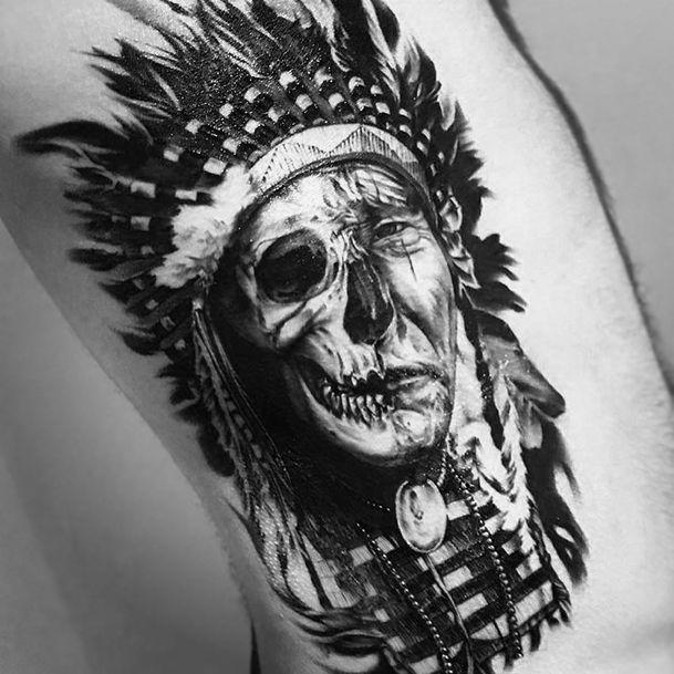 Great White Buffalo Native American Headdress Tattoo: Resultado De Imagen Para Cacique Tattoo