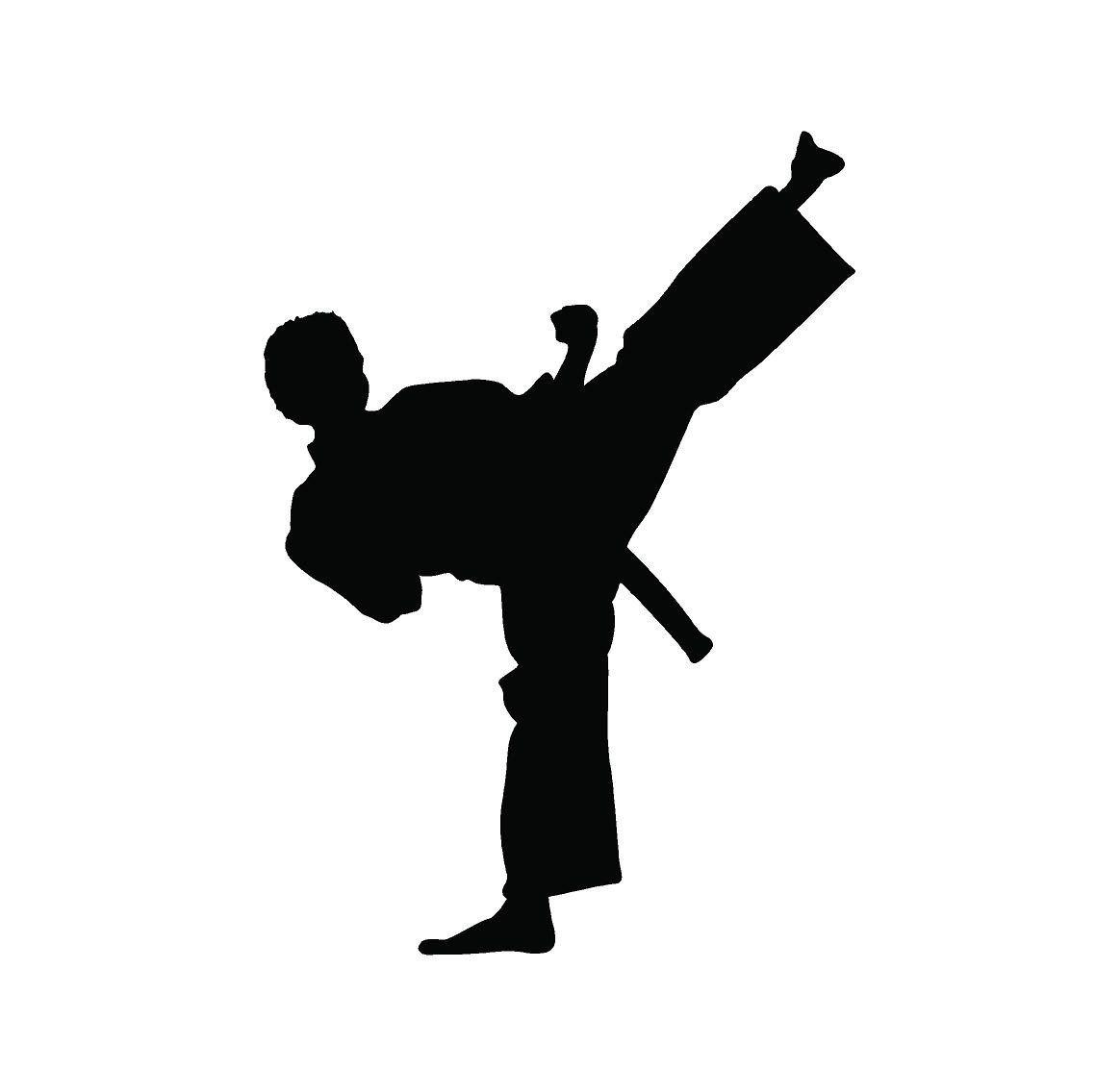 Karate Martial Arts Silhouette Decals Custom Vinyl Laptop Car Truck Window Stickers Martial Arts Karate Martial Arts Custom Vinyl [ 1136 x 1139 Pixel ]