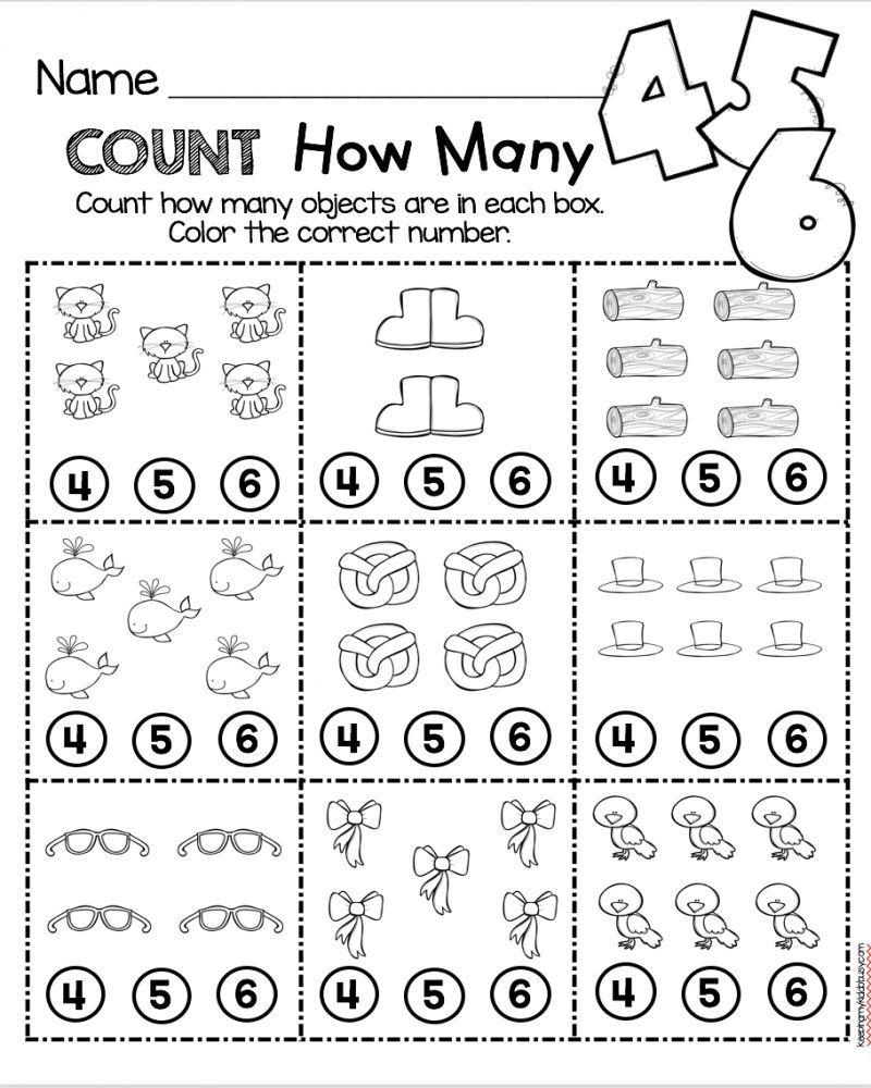 Easy Printable Math Worksheets For Kindergarten Kindergarten Math Worksh Math Counting Worksheets Preschool Math Worksheets Kindergarten Math Worksheets Free