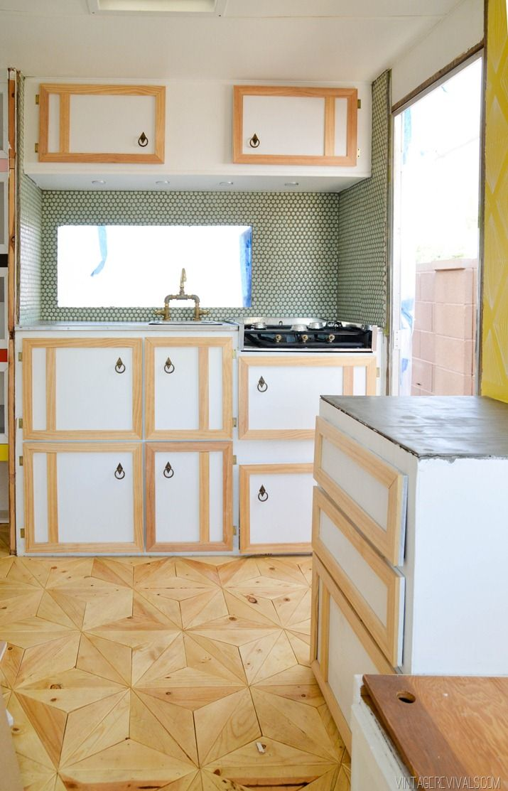 Best Diy Vintage Trailer Check Out The Floor Diy Plywood 640 x 480