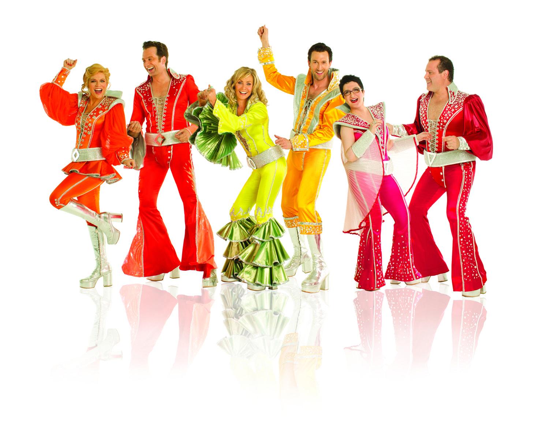 Mama Mia Broadway Mamma Mia Celebrates 11th Anniversary On Broadway Tonight Broadway Costumes Mamma Mia Abba Costumes