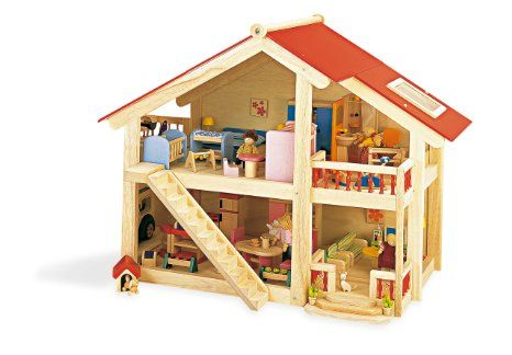 Pintoy Woodlands Dolls House with Furniture: Amazon.co.uk: Toys & Games