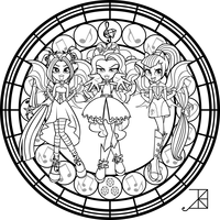 SG Dazzlings Coloring Page By Akili Amethyst