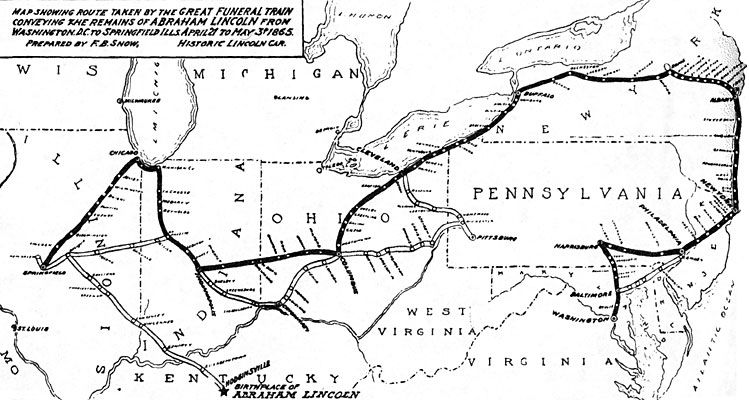 This Account Of Abraham Lincoln S Funeral Train Mentions The Major