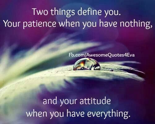 Two things define you..