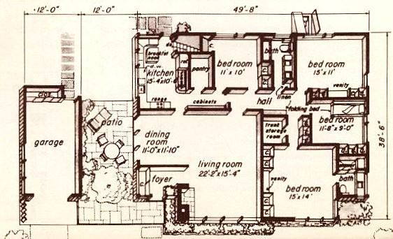 Homemaster A Book Of Home Planning 1955 Vintage House Plans Architectural Floor Plans House Plans