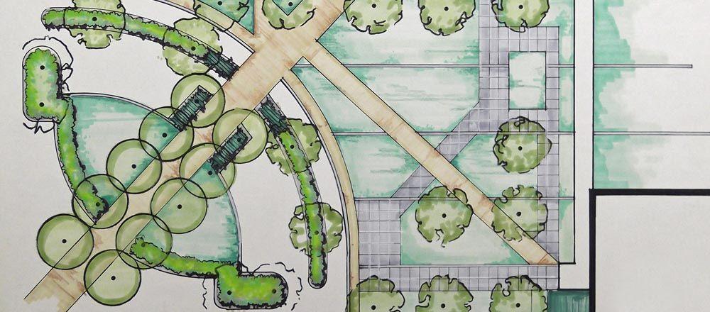 Blueprint Of Exterior Landscaping