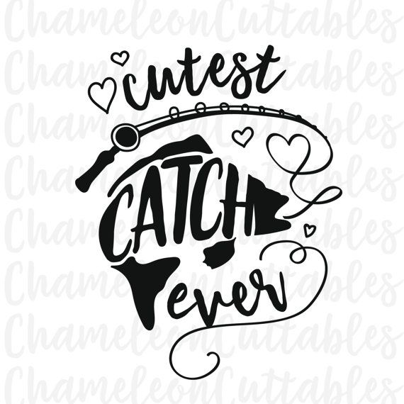 Cutes Catch Ever Svg Fishing Fish Outdoors Girl Girls - Cool custom vinyl decals for carsfish hook die cut vinyl decal pv projects pinterest fish