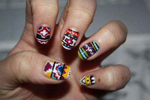 Aztec Nails A Do Nails Accesserized Pinterest Aztec Nails
