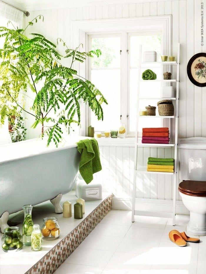 gruene zimmerpflanzen bad gestalten steg Badezimmer Ideen