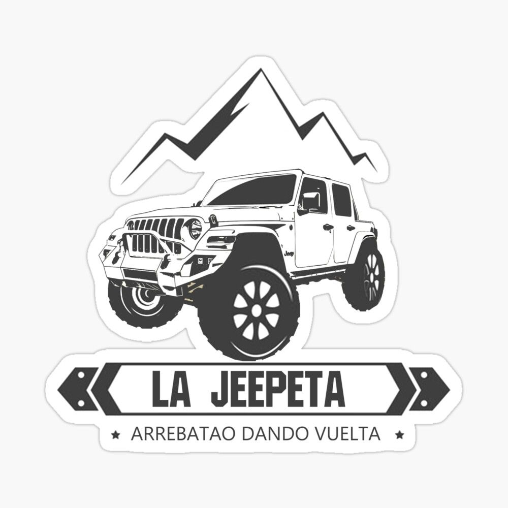 Get My Art Printed On Awesome Products Support Me At Redbubble Rbandme Https Www Redbubble Com I Sticker La Jeep Aesthetic Stickers Stickers Mask For Kids [ 1000 x 1000 Pixel ]
