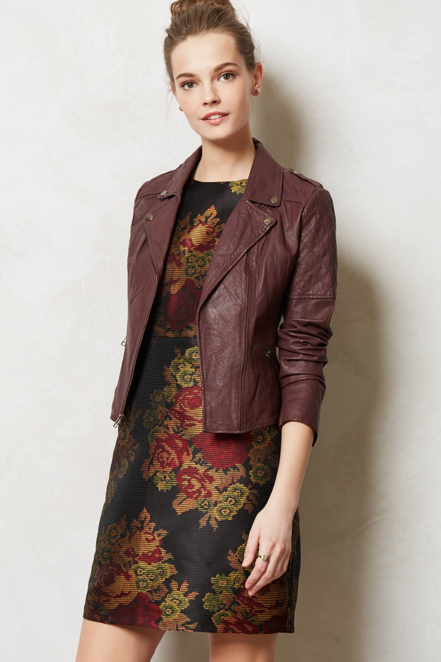 Quilted Leather Moto Jacket Anthropologie clothing