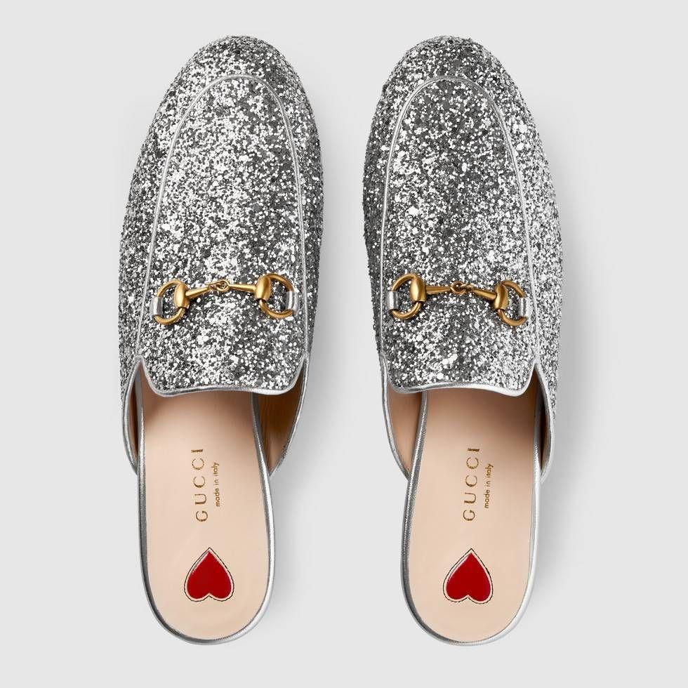Princetown glitter slipper by Gucci