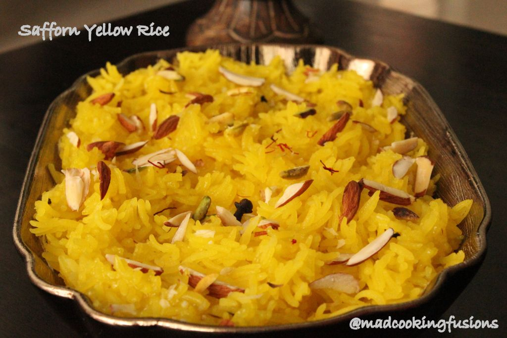 Sweet Saffron Yellow Rice