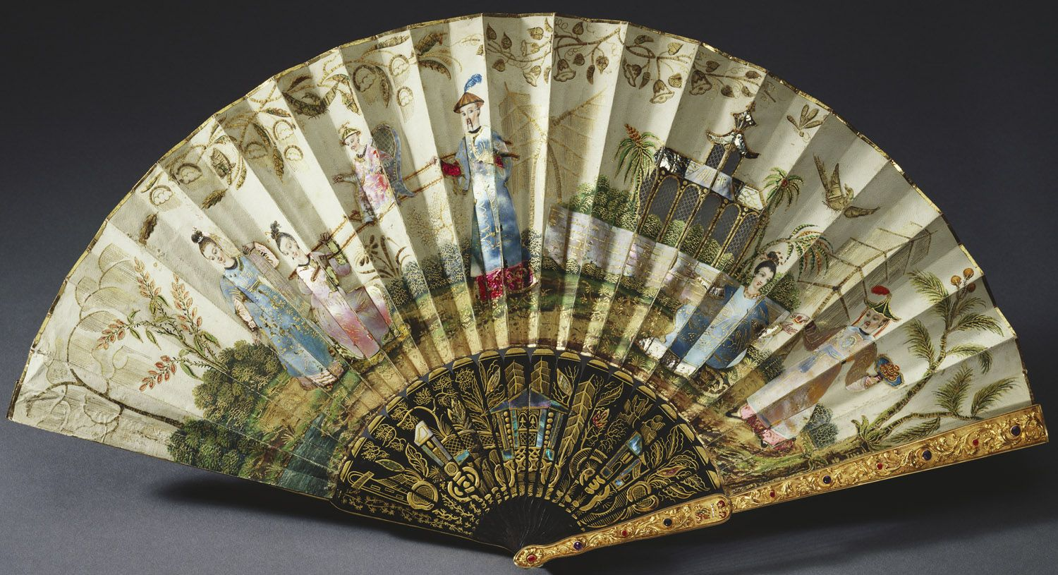 French, Queen Adelaide's fan, c. 1820