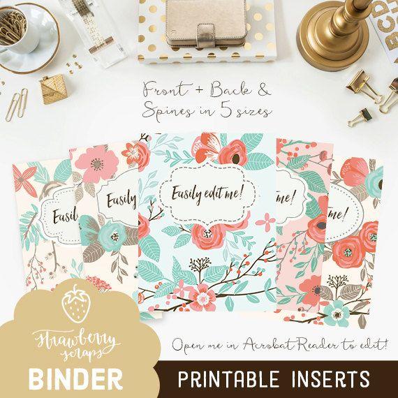 Binder cover printable \