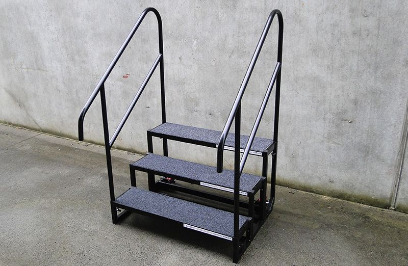 Best Stage Steps Modular Portable Stage Stairs Stage Rails Portable Stage Backyard Trampoline Steps 400 x 300