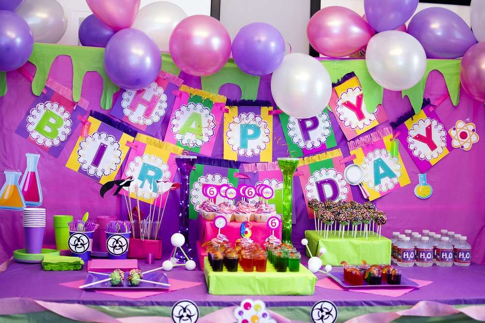 Pink Purple Green Birthday Party Ideas Photo 23 Of 26 Catch