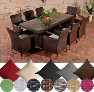 Poly-Rattan Gartenmöbel Essgruppe AVIGNON BIG, 4 Farben (8 x Polyrattan Stuhl Julia + Tisch 200 x 90 cm) INKL. bequemen Sitzauflagen Jetzt bestellen unter: https://moebel.ladendirekt.de/garten/gartenmoebel/gartenmoebel-set/?uid=acfb9343-b23a-5dce-a7dd-007112c9f50c&utm_source=pinterest&utm_medium=pin&utm_campaign=boards #garten #gartenmoebel #gartenmoebelset