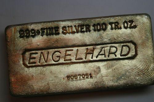 ENGELHARD 999+ FINE SILVER 100TR.OZ.BAR