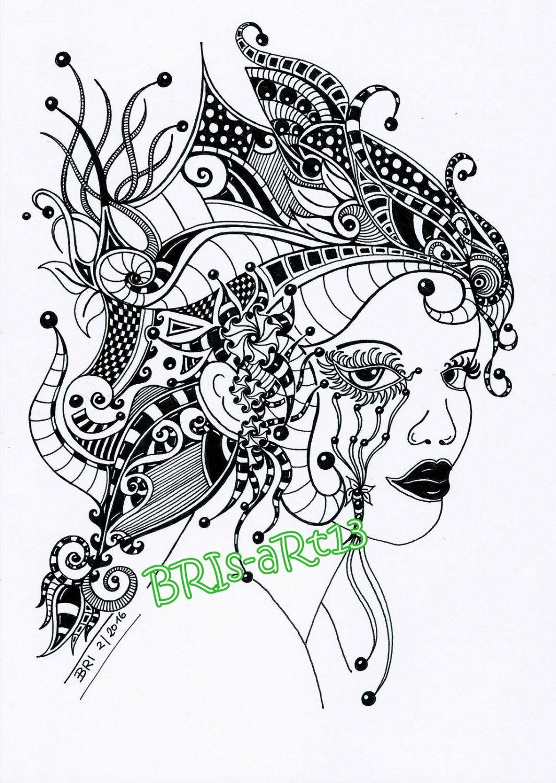 Download Adult coloring ZenZia made by BRI, Zentangles, zendoodle ...