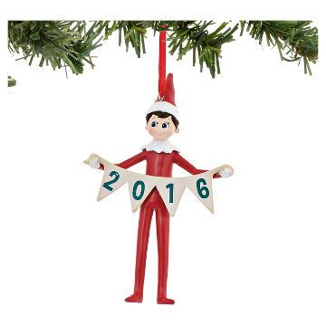 Elf On The Shelf Light Skin Tone Boy 2016 Christmas Ornament Elf On The Shelf Christmas Tree Ornaments