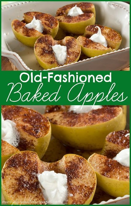 Baked Apples This 5-ingredient recipe for baked apples is a diabetic-friendly treat that's perfect in the fall!This 5-ingredient recipe for baked apples is a diabetic-friendly treat that's perfect in the fall!